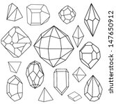 black and white diamonds.... | Shutterstock .eps vector #147650912
