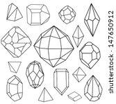 black and white diamonds.... | Shutterstock .eps vector #147650912