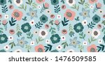 floral abstract seamless... | Shutterstock .eps vector #1476509585