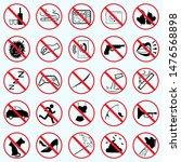 prohibition type icon warning...