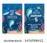 Baby Shark Party Invitation...