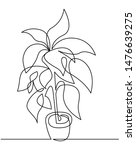 houseplant in pot continuous... | Shutterstock .eps vector #1476639275
