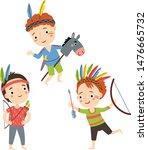 illustration set of boys... | Shutterstock .eps vector #1476665732