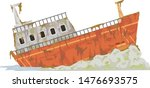 Illustration Of An Rusting...