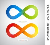 colorful vector infinity symbol | Shutterstock .eps vector #147670766