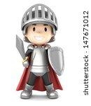 3d render of a cute knight boy | Shutterstock . vector #147671012