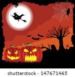 halloween background | Shutterstock .eps vector #147671465