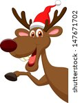 Cute Cartoon Deer Waving