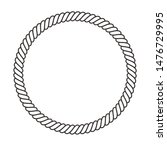 round rope frame. circle ropes  ... | Shutterstock .eps vector #1476729995