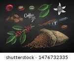 vector color chalk drawn set of ... | Shutterstock .eps vector #1476732335