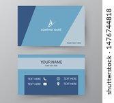modern presentation card.... | Shutterstock .eps vector #1476744818