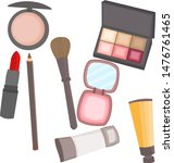 makeup is popular.department... | Shutterstock .eps vector #1476761465