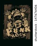"retro design ""punk rock"" for t... | Shutterstock .eps vector #147676406"