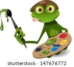 Illustration Green Frog Artist...