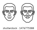 man face icon. human heads | Shutterstock .eps vector #1476775388