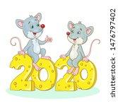 Two Funny Gray Rats   Symbols...