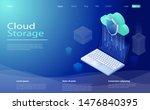 cloud computing technology... | Shutterstock .eps vector #1476840395