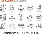 set of job icons  skill ... | Shutterstock .eps vector #1476844148