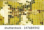 golden tiled glasses mosaic... | Shutterstock . vector #147684542