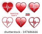 Beating Heart Symbol Set  ...