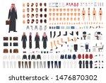 arab businessman in traditional ... | Shutterstock .eps vector #1476870302