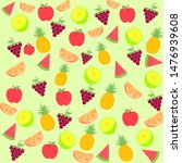 seamless pattern with lemon ... | Shutterstock .eps vector #1476939608