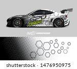 car wrap decal design concept.... | Shutterstock .eps vector #1476950975