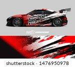 car wrap decal design concept.... | Shutterstock .eps vector #1476950978