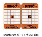halloween themed blank orange...   Shutterstock .eps vector #1476951188