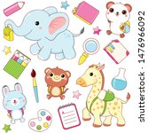 back to school. vector set of... | Shutterstock .eps vector #1476966092