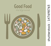 food background with various... | Shutterstock .eps vector #147698765