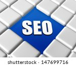 seo   3d letters over blue... | Shutterstock . vector #147699716