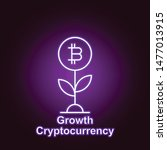 bitcoin growth outline icon in...