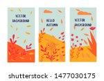 hello autumn card flower leaf... | Shutterstock .eps vector #1477030175