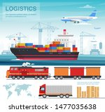 transport industry concept ... | Shutterstock .eps vector #1477035638