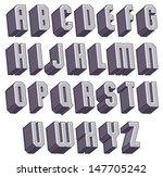 3d geometric bold font ... | Shutterstock .eps vector #147705242