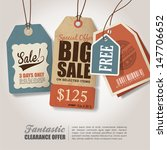 vintage style price tags design | Shutterstock .eps vector #147706652