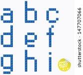unique pixel block alphabet ... | Shutterstock .eps vector #147707066