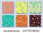 summer background set with flat ... | Shutterstock .eps vector #1477078052