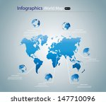 world map infographic with... | Shutterstock .eps vector #147710096
