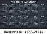 big vector collection of 576... | Shutterstock .eps vector #1477106912