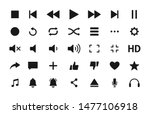 set of media player icons in... | Shutterstock .eps vector #1477106918