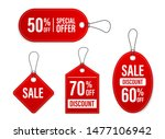 Stock vector set of sale tags and labels template shopping labels blank discount and price tags on paper 1477106942