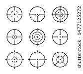 set of vector target or aim... | Shutterstock .eps vector #1477125272