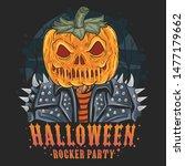 halloween pumpkin new artwork... | Shutterstock .eps vector #1477179662