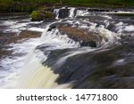 a rapid white water stream...