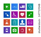 metro style medical icons... | Shutterstock .eps vector #147719348