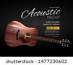 acoustic night live performance ...   Shutterstock .eps vector #1477230602