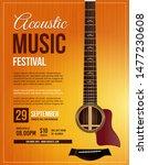 live performance guitar...   Shutterstock .eps vector #1477230608