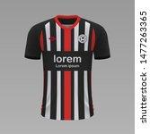 realistic soccer shirt...   Shutterstock .eps vector #1477263365